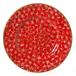 Lawn Pattern Red Lunch Plate