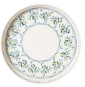 Forget Me Not Large Quiche Dish