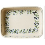 Forget Me Not Large Rectangular Oven Dish