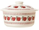 Apple Medium Lidded Casserole