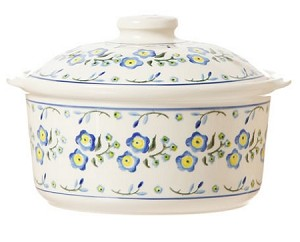 Forget Me Not Medium Lidded Casserole