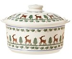 Reindeer Medium Lidded Casserole