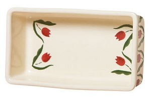 Red Tulip Medium Rectangular Oven Dish
