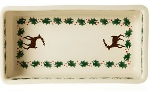 Reindeer Medium Rectangular Oven Dish