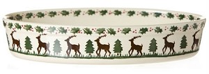 Reindeer Oval Oven Dish