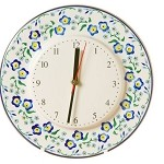 Forget Me Not Kitchen Clock