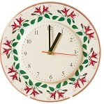 Fuchsia Kitchen Clock