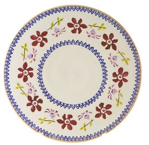 Clematis Footed Cake Plate 9''