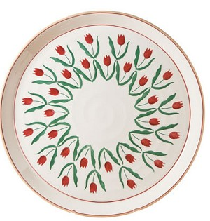 Red Tulip Signed Presentation Platter