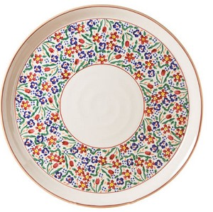 "Wild Flower  Meadow Footed 11"" Cake Plate"