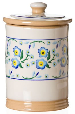 Forget Me Not Storage Jar