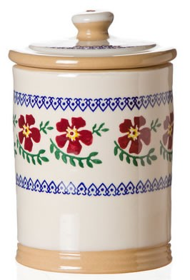Old Rose Storage Jar