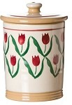 Red Tulip Storage Jar