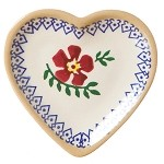 Old Rose Tiny Heart Plate
