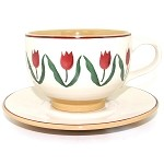 Red Tulip Large Cup & Saucer