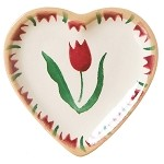 Red Tulip Tiny Heart Plate