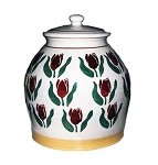 Red Tulip Large Lidded Jar