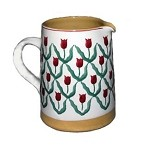 Red Tulip Medium Cylinder Jug