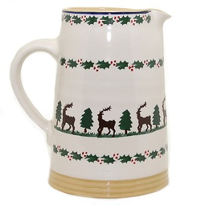 Reindeer Medium Cylinder Jug Retired