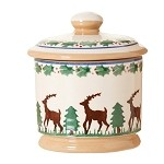 Reindeer Lidded Sugar Bowl NEW