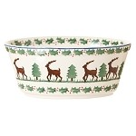 Reindeer Small Oval Pie Dish