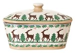 Reindeer Covered Butter Dish