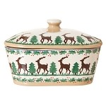 Reindeer Covered Butter Dish NEW