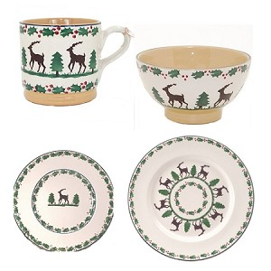Nicholas Mosse Reindeer 4 Piece Place Setting
