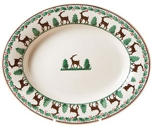Reindeer Small Oval Dish