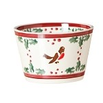 Winter Robin Custard Pot