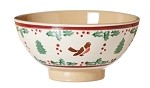 Winter Robin Medium Bowl
