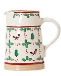 Winter Robin Medium Cylinder Jug