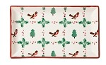 Winter Robin Medium Rectangular Plate
