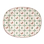 Winter Robin Oval Platter