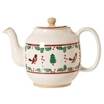 Winter Robin Teapot