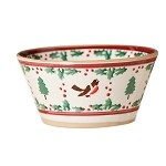 Winter Robin Small Angled Bowl
