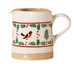 Winter Robin Small Cylinder Jug