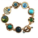Gold Plated Avant Garde Bracelet , Water Lily