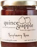 Quince and Apple Raspberry Rose Jam