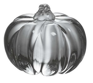 Solid Mini Glass Pumpkin