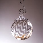 Simon Pearce Corinth Twist Bauble Ornament, Gift Boxed