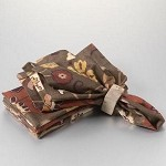 Brown Leaf Print Napkin Set/4
