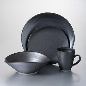 Barre 4 Piece Place Setting w/Pasta Bowl Slate or Alabaster