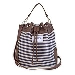 Sloane Ranger Denim Stripe Bucket Bag