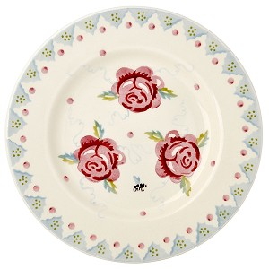 "Rose and Bee 8.5"" Plate"
