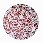 Red Calico Dinner Plate  10.5 inch