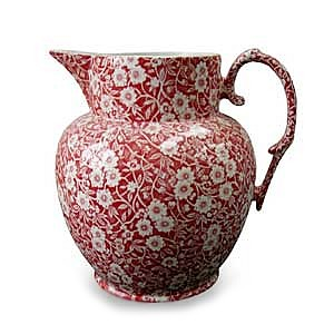 Red Calico Etruscan Jug