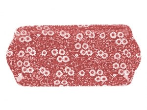"Red Calico 13.5"" Rectangular Dish"