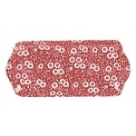 "Red Calico 10"" Rectangular Dish"