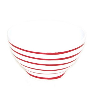 Vertigo Flame Red Coupe Cereal Bowl